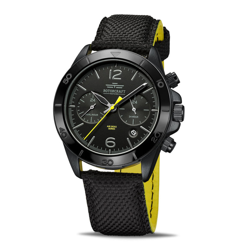 Rotorcraft Air Boss RC1204 Multifunction Dual time watch