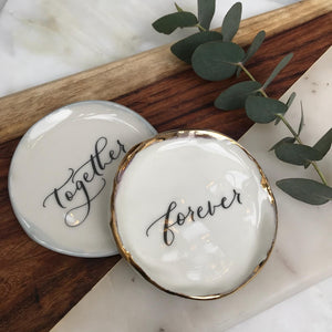Limited Edition Valentine's Calligraphy Plates