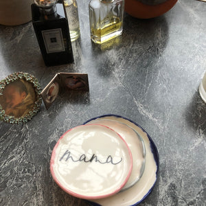 Parents/Grandparents Calligraphy Plates