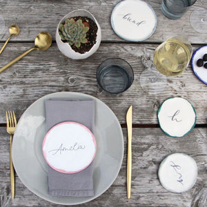 Personalised Calligraphy Plates - LIMITED RELEASE