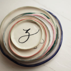 Calligraphy Toast Plate