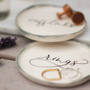 Calligraphy Trinket Plate