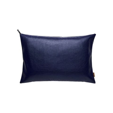 Designpude 60x40 - Royal Blue læder look