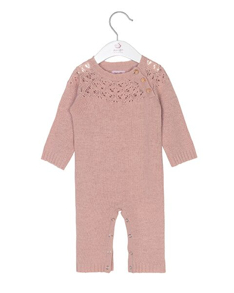 Noa Noa Baby Wool knitted jumpsuit Cameo rose Heldragt