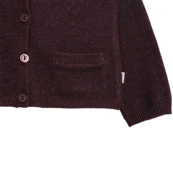 Wheat Knit Ibi Soft Eggplant Cardigan