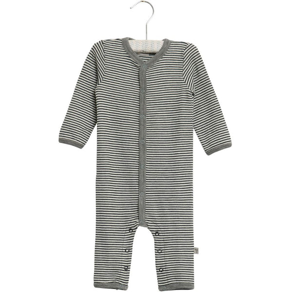 Wheat Wool striped jumpsuit 1432 navy Heldragt