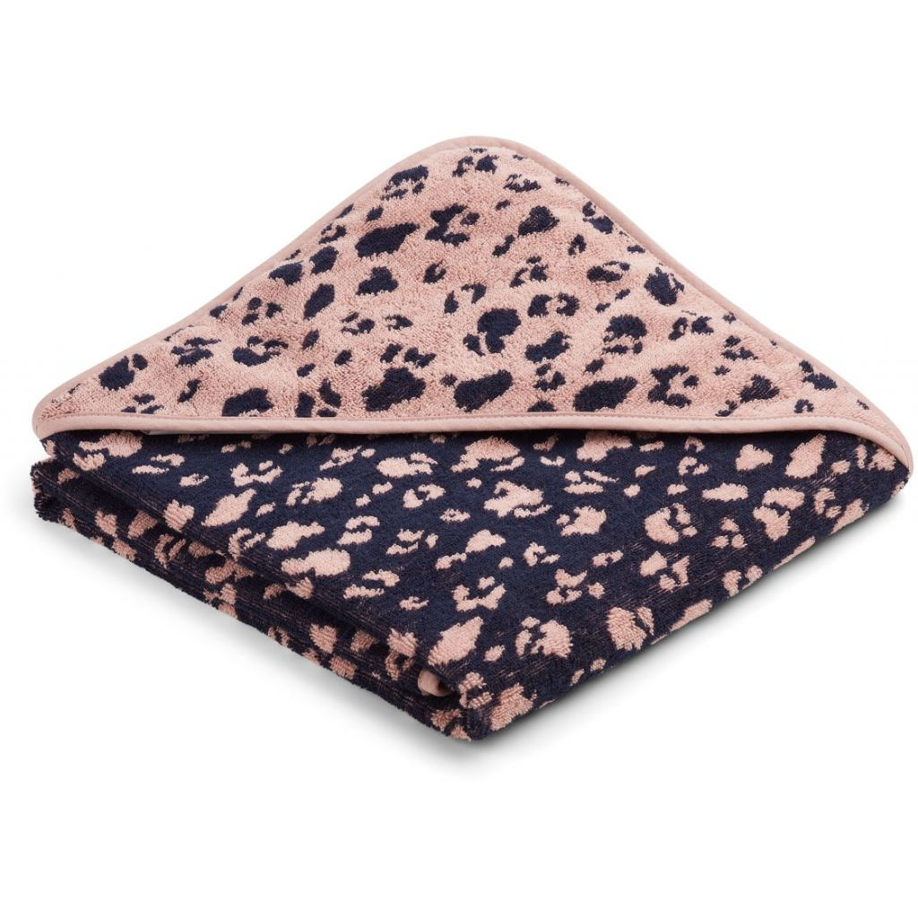 Liewood Ebba Terry Hooded Towel Leo rose