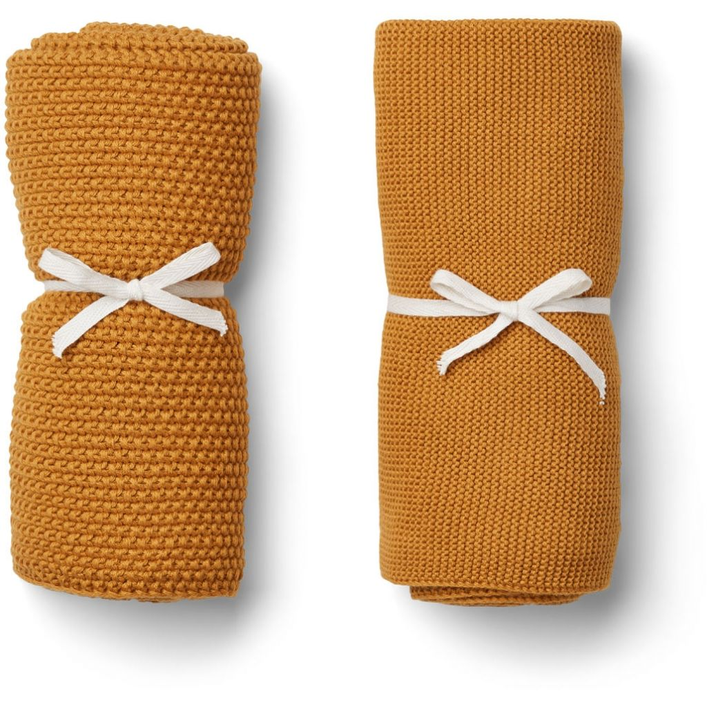 Liewood Tenna Knitted Towel Mustard