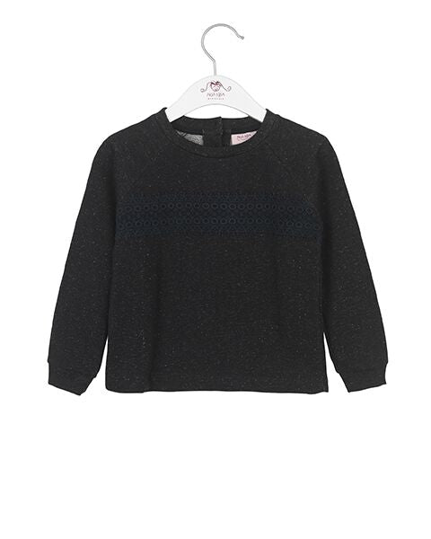 Noa Noa baby/mini shimmer sweatshirt sort