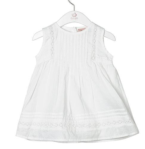 Noa Noa Lily Short Sleeve Dress White