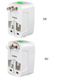 Prise secteur internationale + 2 ports USB