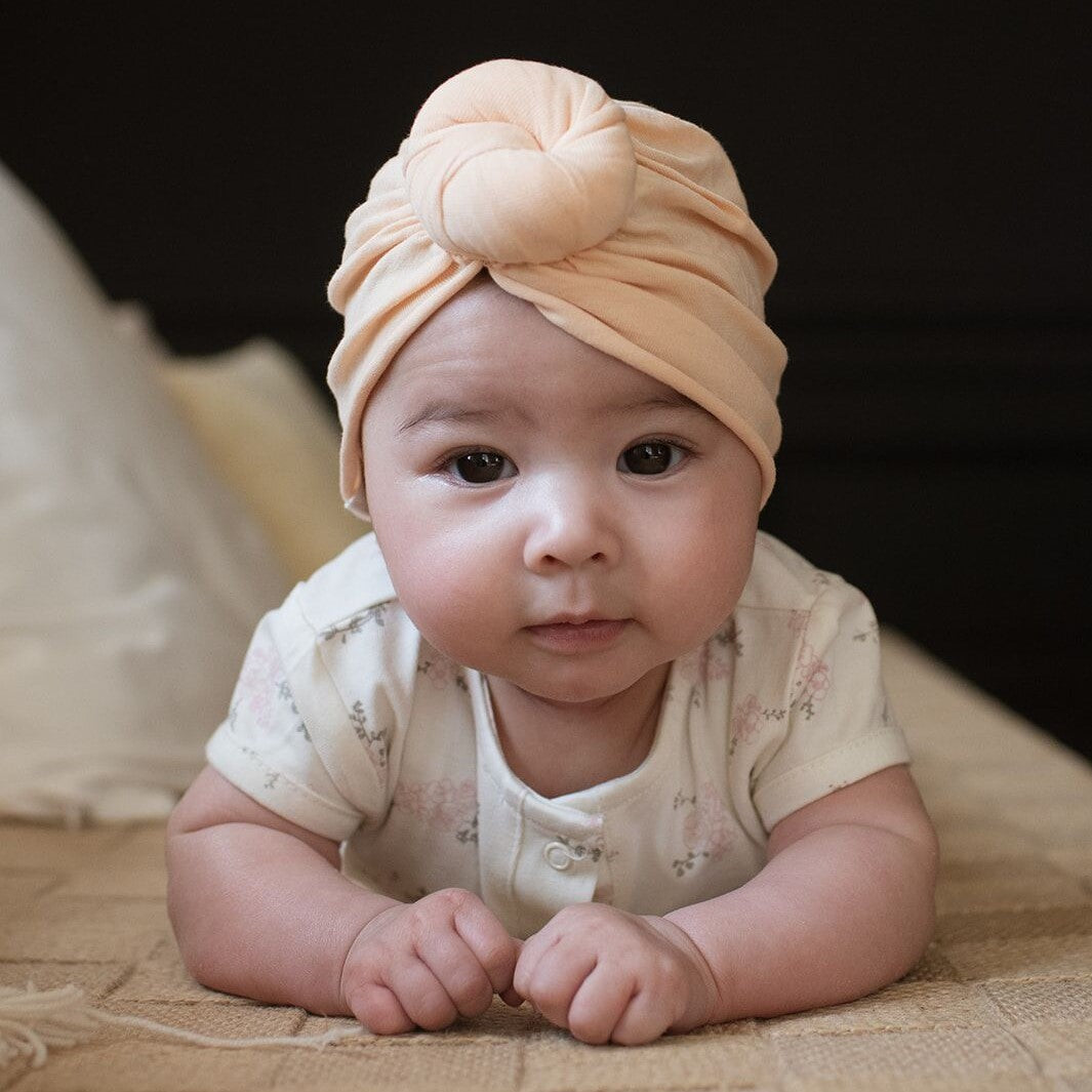 Turban beanie Bonjour Little - perfect nude