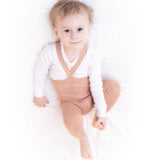 footless maillot Silly Silas - light brown