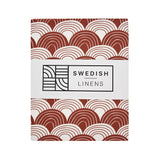 Hoeslaken Swedish Linens - Burgundy red