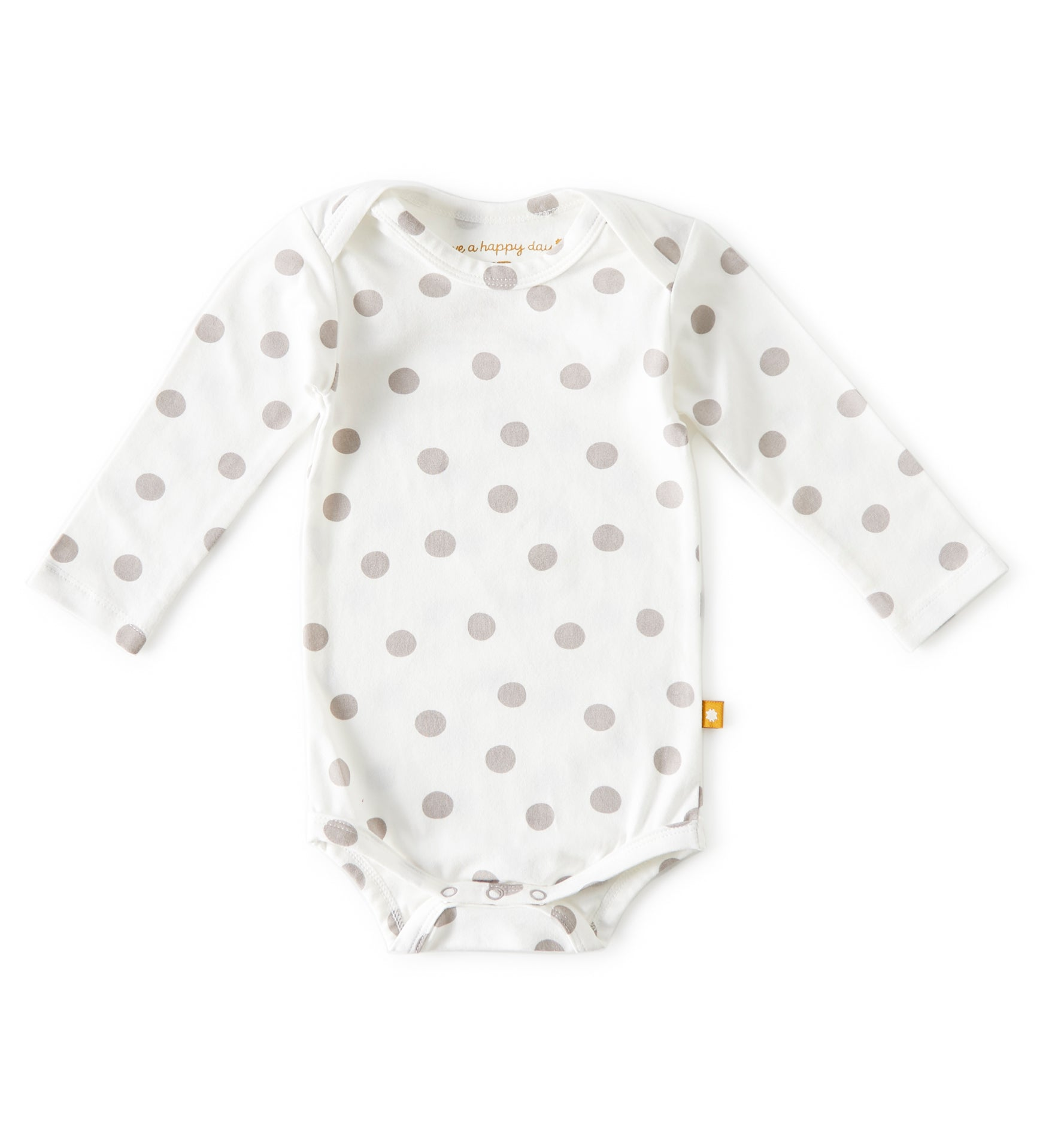 Romper Little label - wit met grijze bolletjes