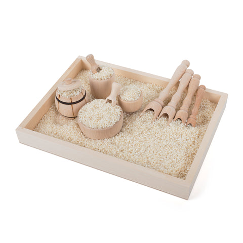 "Sensory Bin ""Scoop & Fill"" Wooden Set"