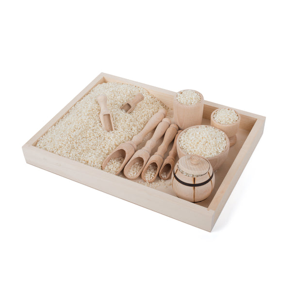 Sensory Bin 'Scoop & Fill' Wooden Set