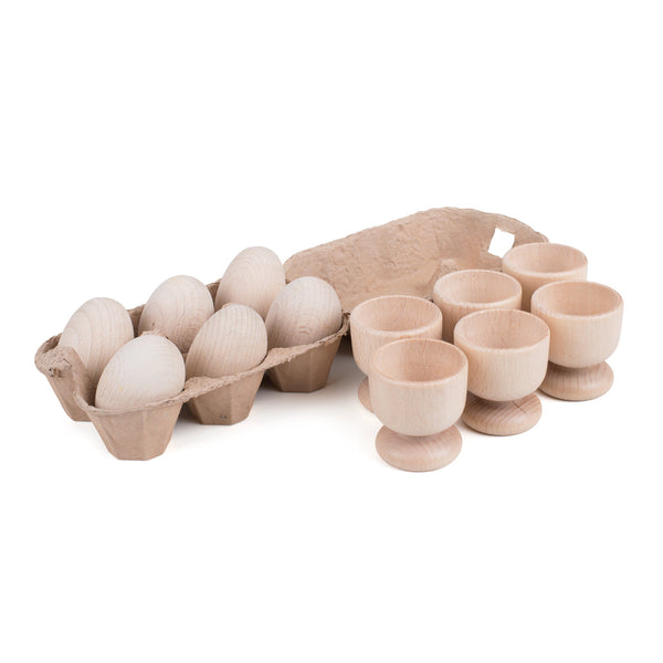 Wooden Eggs and Cup Play Set