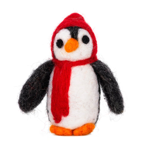 Felt Christmas Penguin Figure