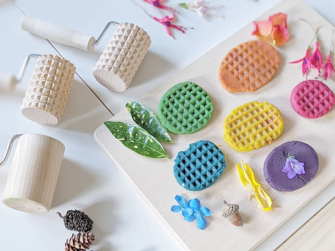 Wooden Play Dough Set - Rolling Pins & Board