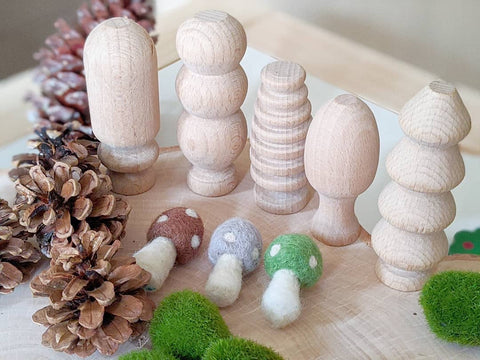 Wooden Forest Tree Set