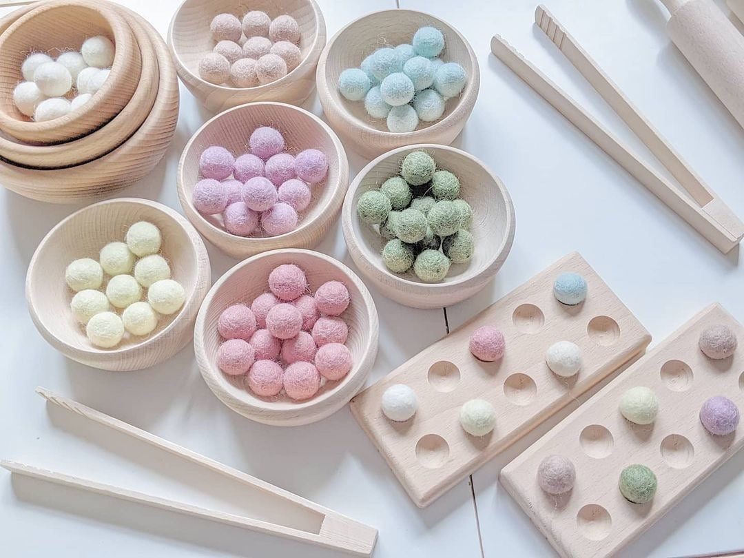 Felt Balls - Easter Pastel Colours