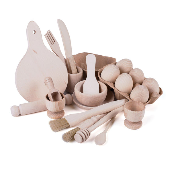 Complete Wooden Kitchen Play Set