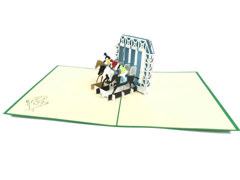 Horse Jockey Pop Up Cards