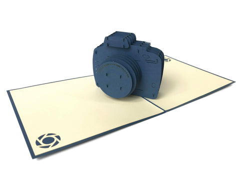 Navy Camera Pop Up Card