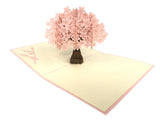 Large Pink Cherry Blossom Pop Up Card