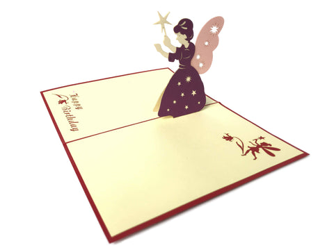 Godmother Fairy Birthday Pop Up Card