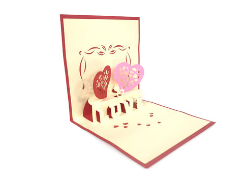 Love hearts Pop Up Card