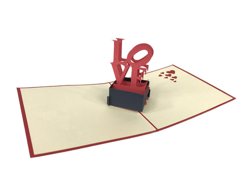 Love Stand Pop Up Card