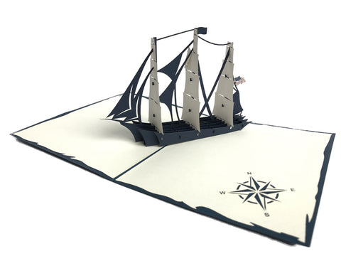 USS Boat Pop Up Card