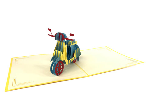 Vespa Pop Up Card