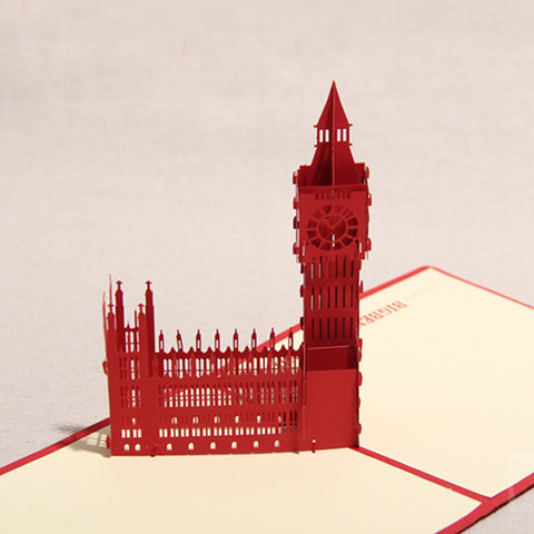 big ben 3d popup london monument card