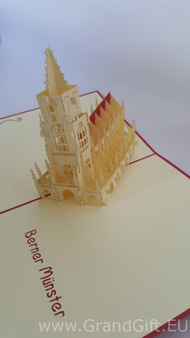 berner munster castle 3d popup german monument popup card