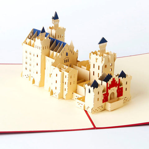 schloss neuschwanstein 3d popup german castle monument gift card