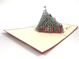man climbing the everest mountain 3d popup gift card