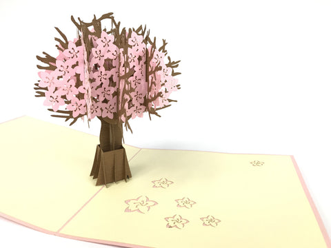 ping cherry blossom tree 3d popup flower gift card