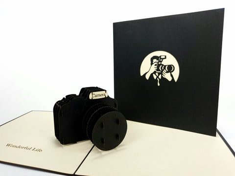 Black Camera Pop Up Card
