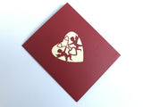 cupids and a red heart 3d popup love valentine card