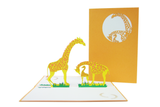 Giraffe Family Pop Up Card