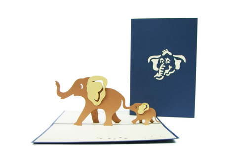 Elephant Family Pop Up Card
