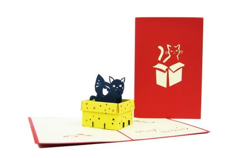 Birthday Cat Pop Up Card