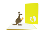 Kangaroo Family Pop Up Card