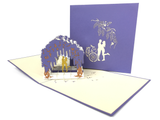 Couple Under Willow Tree Pop Up Card