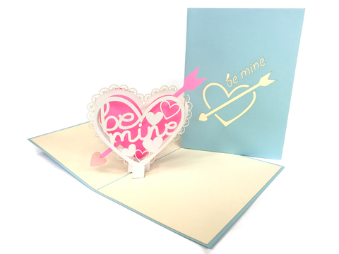 Be Mine Heart Pop Up Card