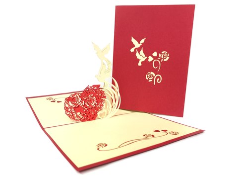 Dove Heart Pop Up Card