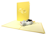 Just Married Car Pop Up Card
